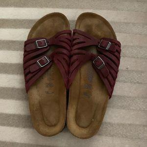 Burgundy Maroon Birkenstock Sandal Size 39